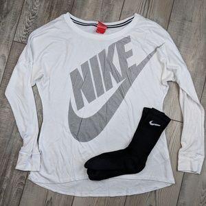Nike shirt comes with free socks